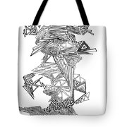 Epitaxy Ink Drawing By Regina Valluzzi Tote Bag