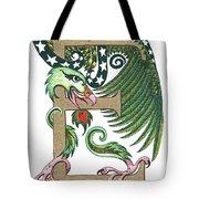 Epsilon Eagle In Green And Gold Tote Bag