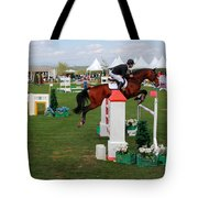 Equestrian Jumping Competition  Tote Bag