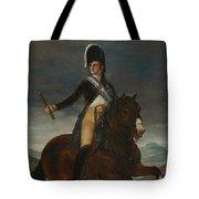 Equestrian Portrait Of Fernando Vii Tote Bag
