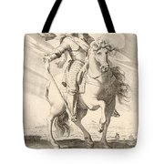 Equestrian Portrait Of Louis Xiii Of France Tote Bag