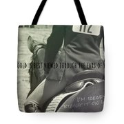 Equitation Quote Tote Bag