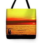 Erie Beach Sunset Tote Bag