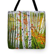 Erin's Birch Trees Tote Bag