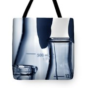 Erlenmeyer Flasks In Science Research Lab Tote Bag