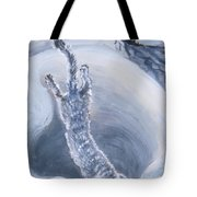 Ermine Diving Into Drift From River Mural Tote Bag