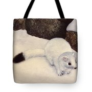 Ermine In Winter Tote Bag