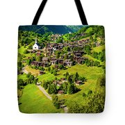 The Alpine Village Of Ernen In Switzerland  Tote Bag