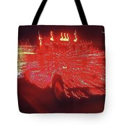 Ernst Haas Homage Fire Truck Electric Lights Xmas Parade Casa Grande Az 2001 Tote Bag