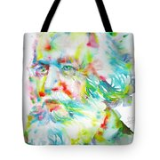 Ernst Haeckel - Watercolor Portrait Tote Bag