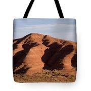 Eroded Hills In Sunset Light Tote Bag