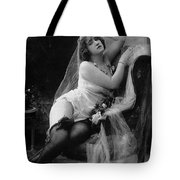 Erotic Photo Of A Model Wearing Lingerie Stockings And Garters Tote Bag