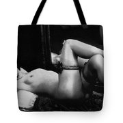 Erotic Photo Of A Naked Woman Wearing Stockings And Garters, 1910s Tote Bag