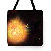 Eruption - Solar Storm Tote Bag