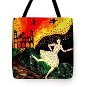 Escape From The Burning House Tote Bag
