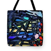 Escape Of The Blue-headed Capricorn From The Labyrinths Of Darkness Tote Bag