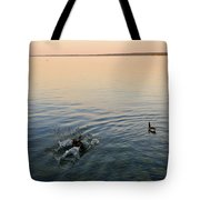 Escaping Geese  Tote Bag