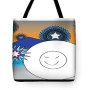 Eskimo And Snowflakes Graphic Tote Bag