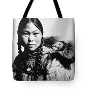 Eskimo Woman And Child Tote Bag