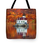 Esopus Lighthouse In Late Fall #3 Tote Bag