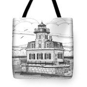 Esopus Meadows Lighthouse Tote Bag by Richard Wambach
