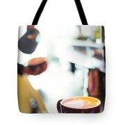 Espresso Expresso Italian Coffee Cup With Machine  Tote Bag