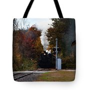 Essex Steam Train Coming Into Fall Colors Tote Bag