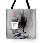 Est 2017 Blackberry Wine Tote Bag