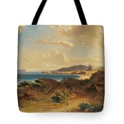 Estepona Beach With The View Of The Rock Of Gibraltar Tote Bag