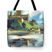 Esztergom, Beautiful City On Danube River, Hungary,  Tote Bag