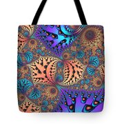 Etched Leaves Tote Bag