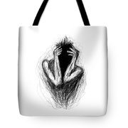 Etching 17 - Midnight Tote Bag