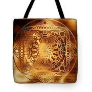 Eternity Mandala Golden Zebrawood Tote Bag