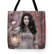 Ethereal Snow Beauty Tote Bag