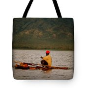 Ethiopia  Baiting A Longline On Lake Chamo Tote Bag