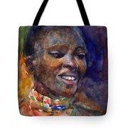 Ethnic Woman Portrait Tote Bag