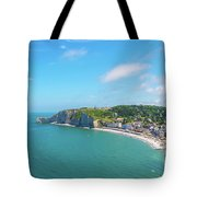 Etretat From Above, France Tote Bag