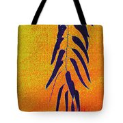 Eucalyptus Leaves Abstract Tote Bag