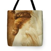 Eucharis  A Girl With A Basket Of Fruit Tote Bag