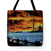 Eugene Talmadge Memorial Bridge And The Serious Politics Of Necessary Change No. 1 Tote Bag
