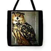 Eurasian Eagle-owl With Oil Painting Effect Tote Bag