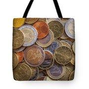 Euro Coins Tote Bag