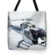 Eurocopter Ec130 With Fantastic Livery Tote Bag