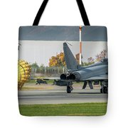 Eurofighter Typhoon 2000 With Parachute Tote Bag