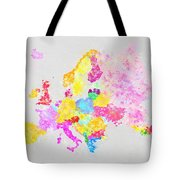Europe Map Tote Bag by Setsiri Silapasuwanchai