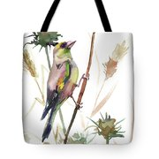European Goldfinch In The Field Tote Bag