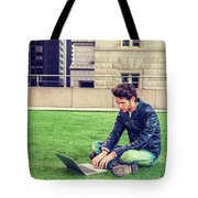 European Graduate Student Studying In New York Tote Bag