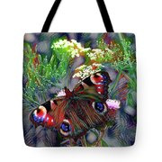 European Peacock Butterfly Tote Bag