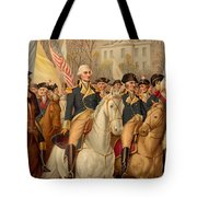 Evacuation Day And Washington's Triumphal Entry In New York City Tote Bag