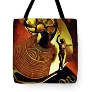 Eve Balanced On A Tightrope Tote Bag by Sarah Loft